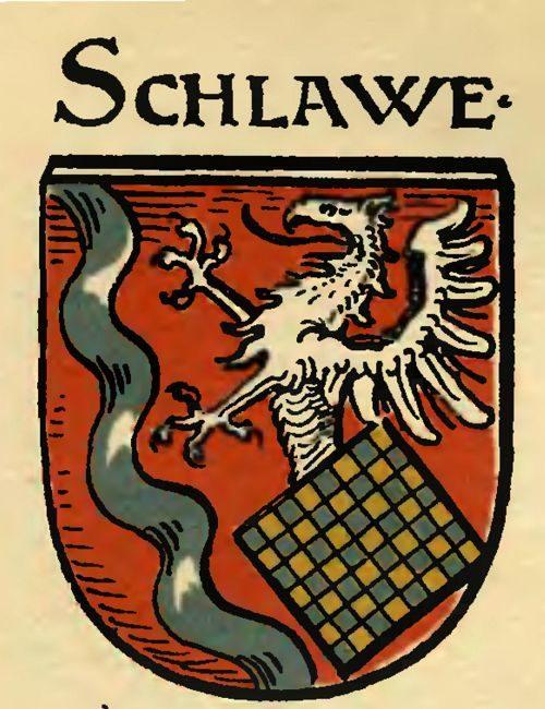 """3. Herb Sławna z herbarza Huppa (""""Wappen und Siegel der deutschen Städte, Flecken und Dörfer"""", Frankfurt 1898, s. 27)-1"""