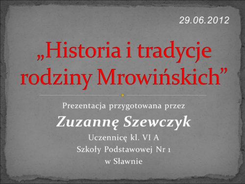 Historia i tradycje rodziny Morawieckich