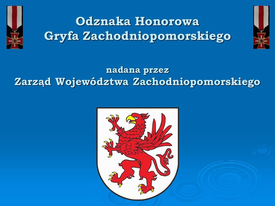 Odznaka Honorowego Gryfa Zachodniopomorskiego